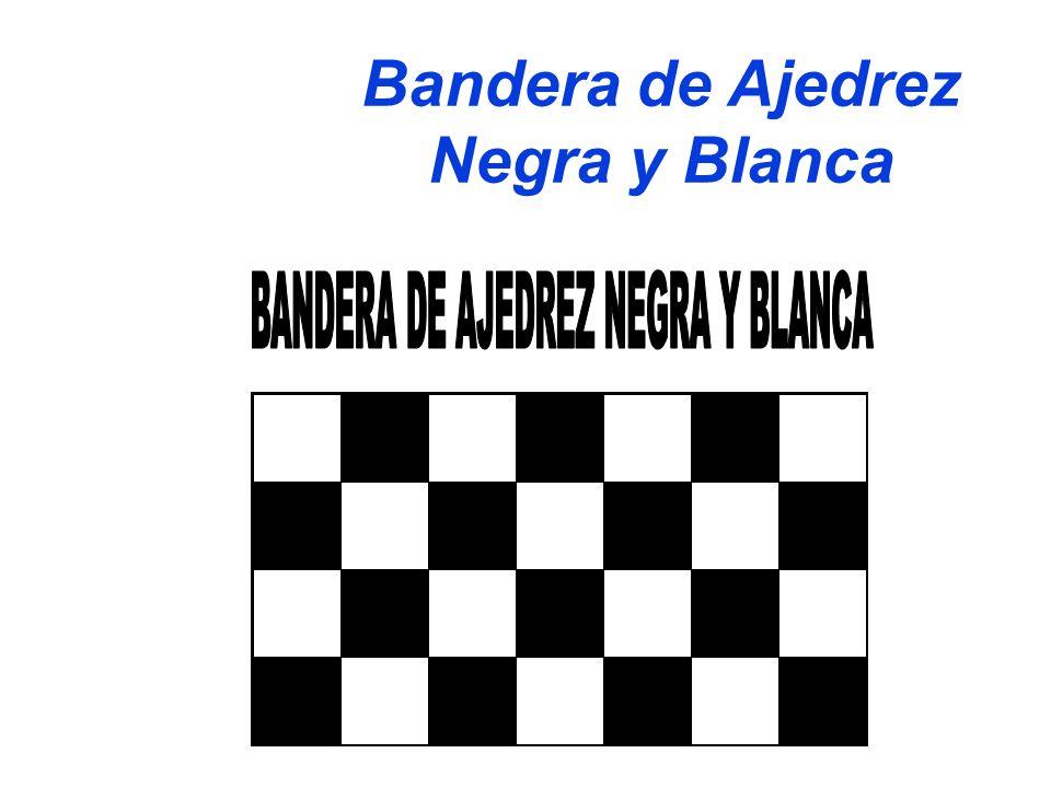 Bandera de Ajedrez Negra y Blanca