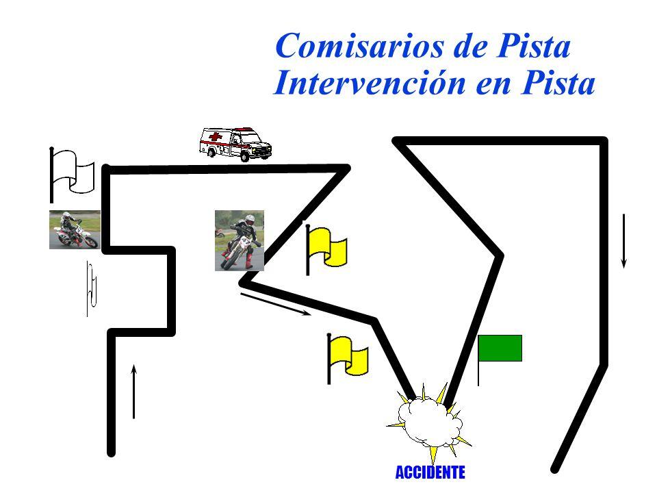 ACCIDENTE Comisarios de Pista Intervención en Pista