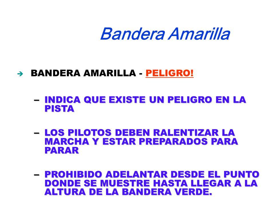 BANDERA AMARILLA - PELIGRO.