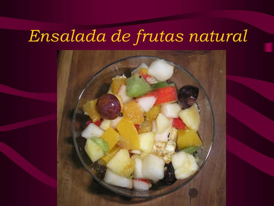 Ensalada de frutas natural