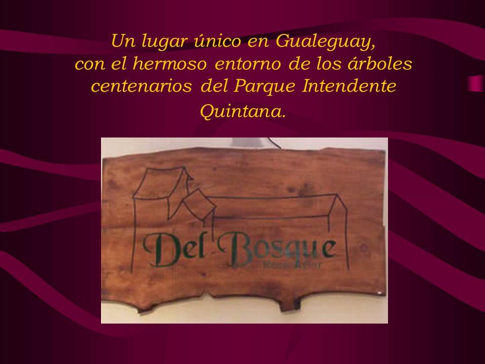 Un lugar único en Gualeguay, con el hermoso entorno de los árboles centenarios del Parque Intendente Quintana.