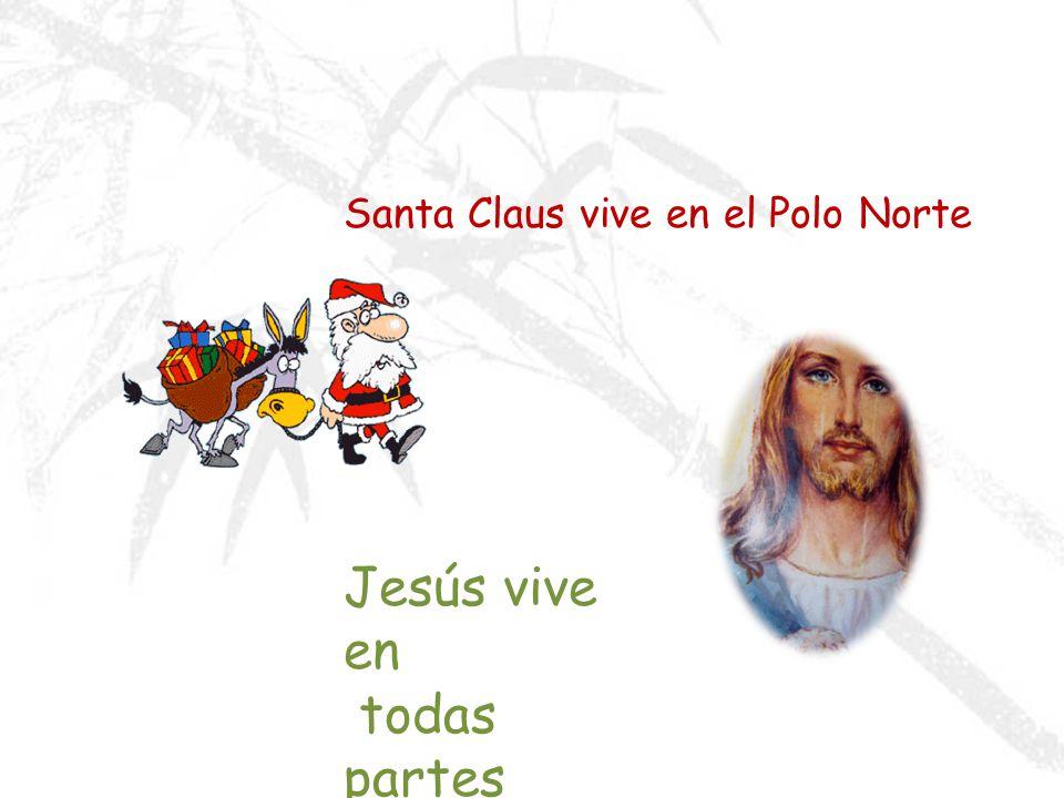 JESÚS ES MEJOR QUE SANTA CLAUS Tengo esta tarjeta de Navidad para ti