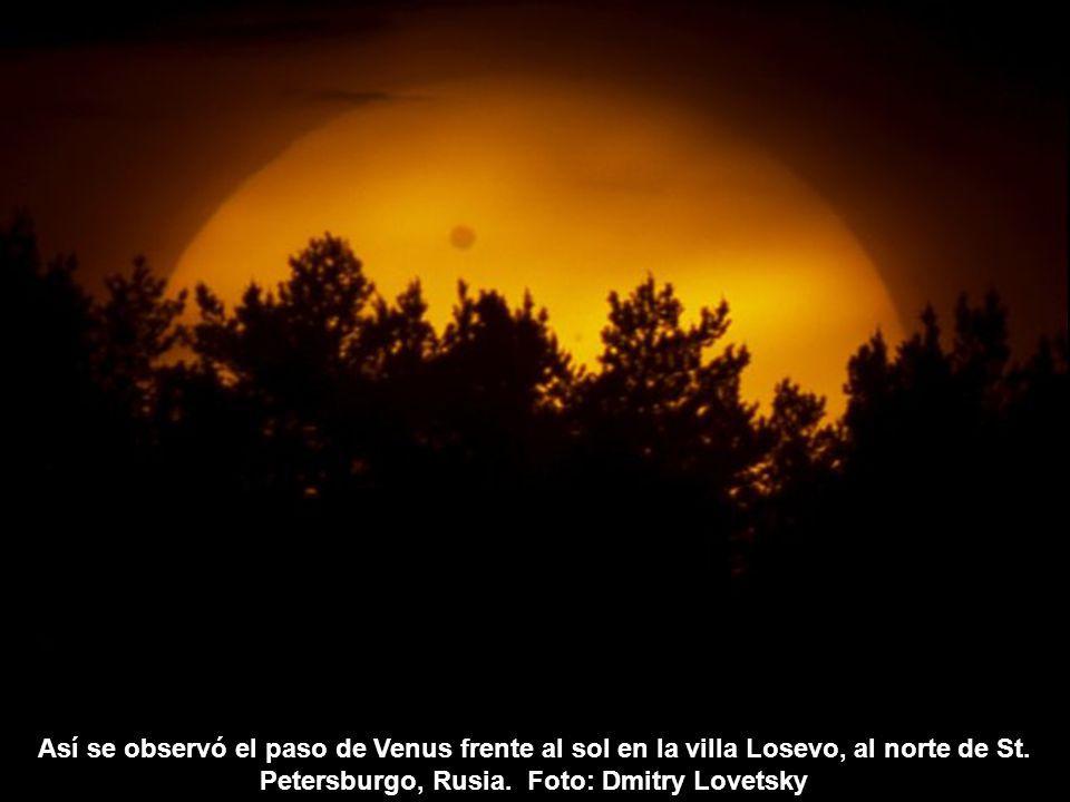 Así se observó el paso de Venus frente al sol en la villa Losevo, al norte de St.