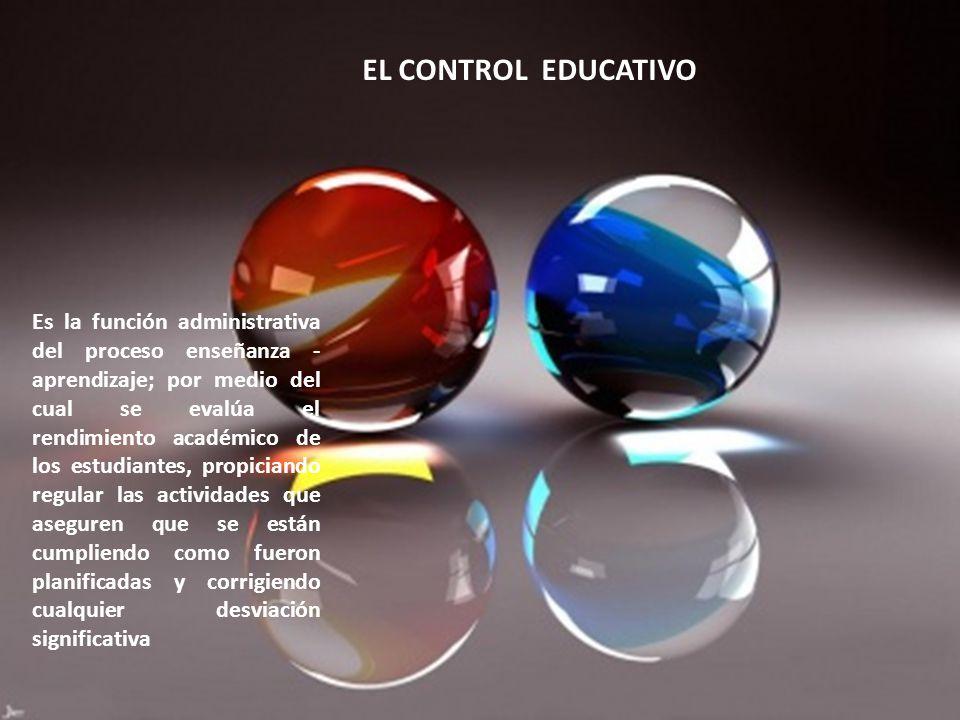 Es la función administrativa del proceso enseñanza - aprendizaje; por medio del cual se evalúa el rendimiento académico de los estudiantes, propiciand