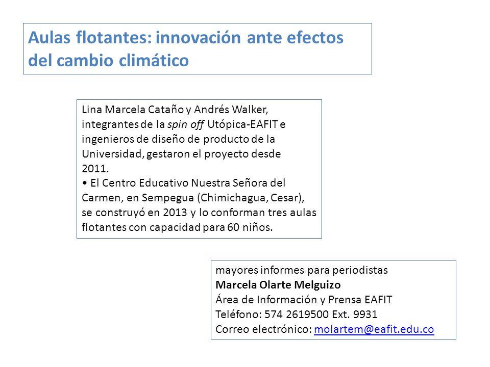 Lina Marcela Cataño y Andrés Walker, integrantes de la spin off Utópica-EAFIT e ingenieros de diseño de producto de la Universidad, gestaron el proyecto desde 2011.