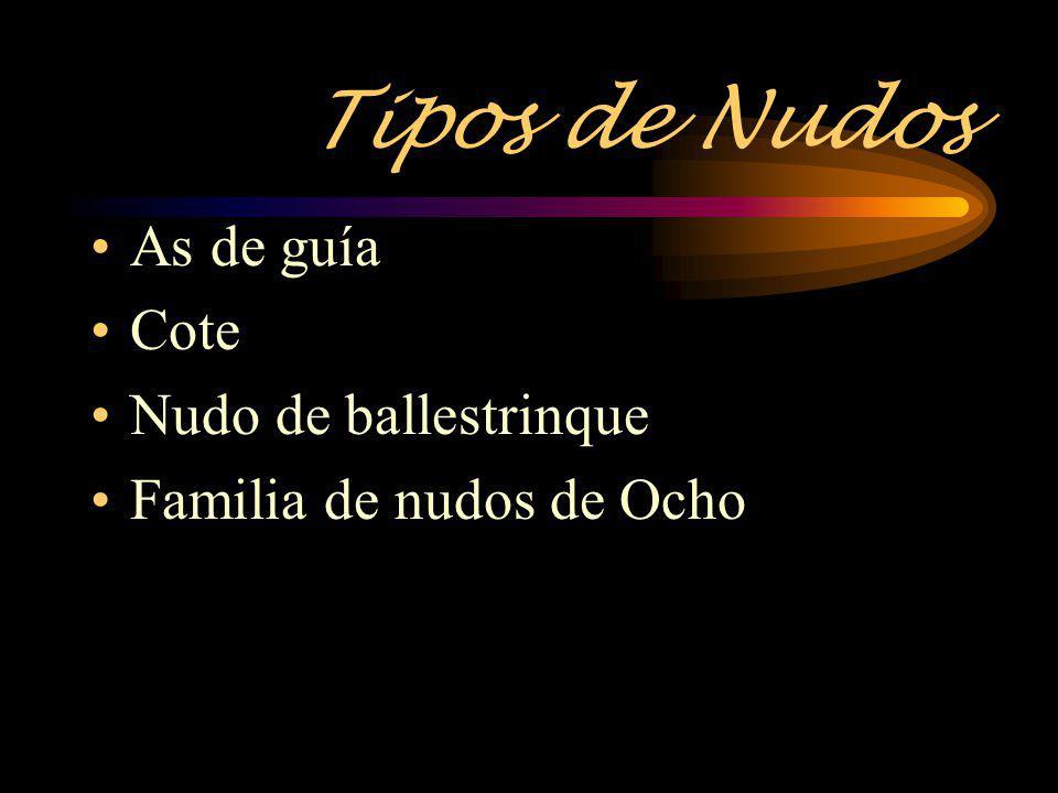 Tipos de Nudos As de guía Cote Nudo de ballestrinque Familia de nudos de Ocho