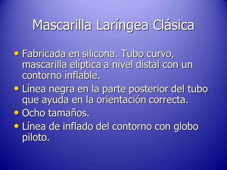 Mascarilla Laríngea Clásica Fabricada en silicona.