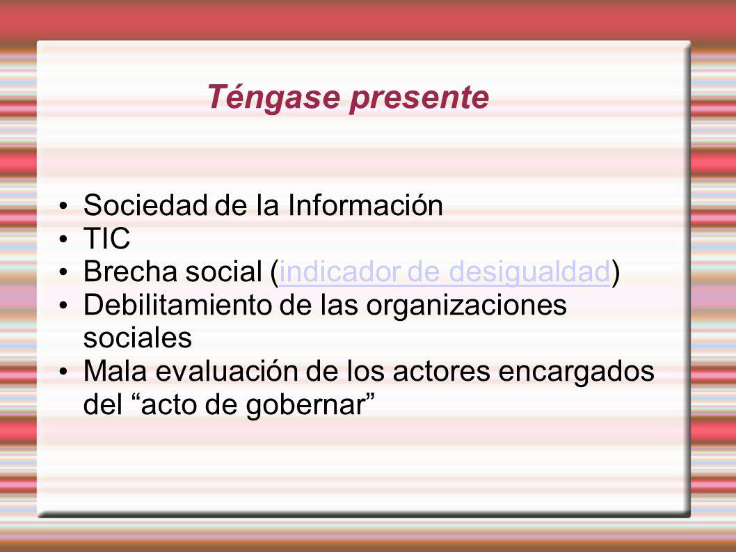 El acceso a la información en la sociedad moderna no es un privilegio de algunos, es un recurso básico para el desarrollo, la equidad y la democracia Presidenta Michelle Bachelet
