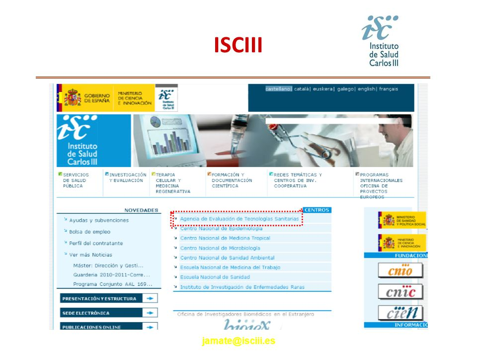 jamate@isciii.es ISCIII
