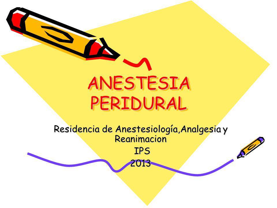 Factores que influyen en la extensión de la Anestesia