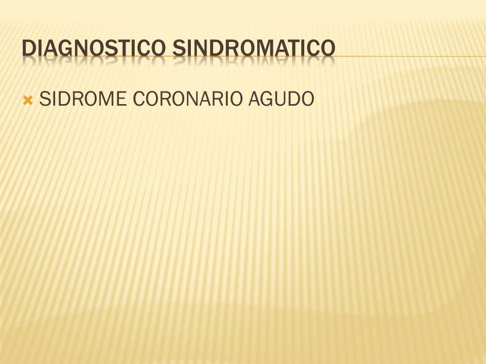SIDROME CORONARIO AGUDO