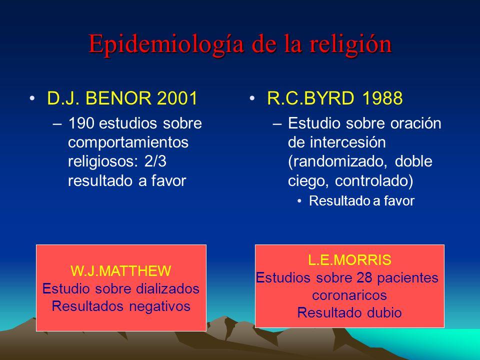 Epidemiología de la religión D.J.