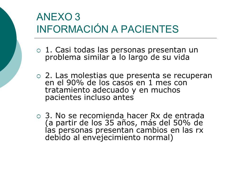 ANEXO 3 INFORMACIÓN A PACIENTES 1.