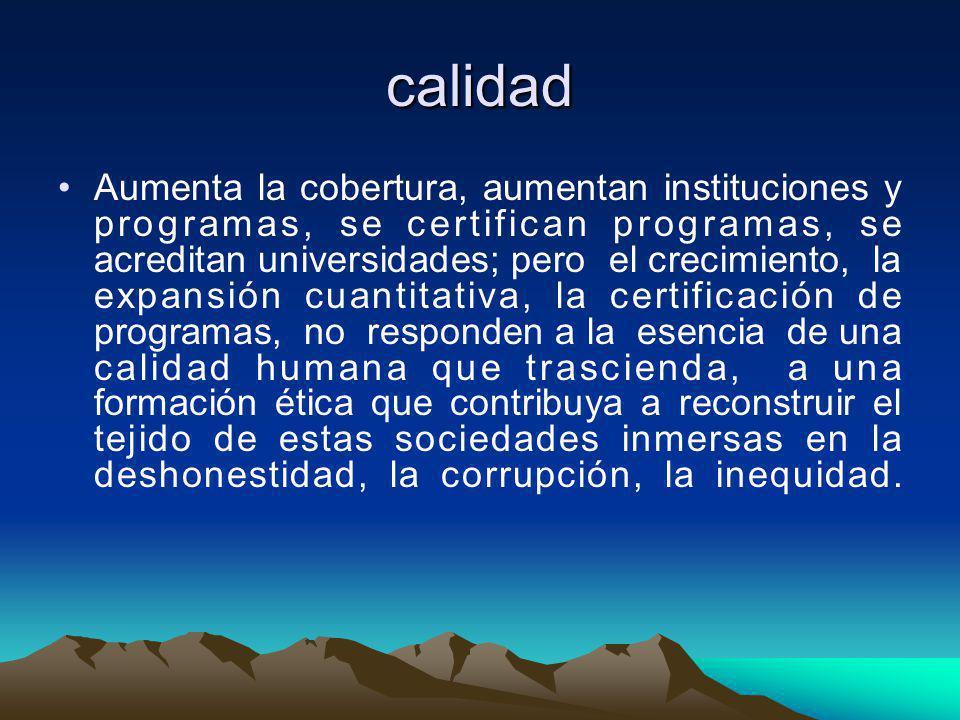 Reflexión ¿Es viable hablar de calidad con los altos índices de corrupción en todos los estamentos de la sociedad colombiana que están proyectando el fracaso de un sistema educativo?.