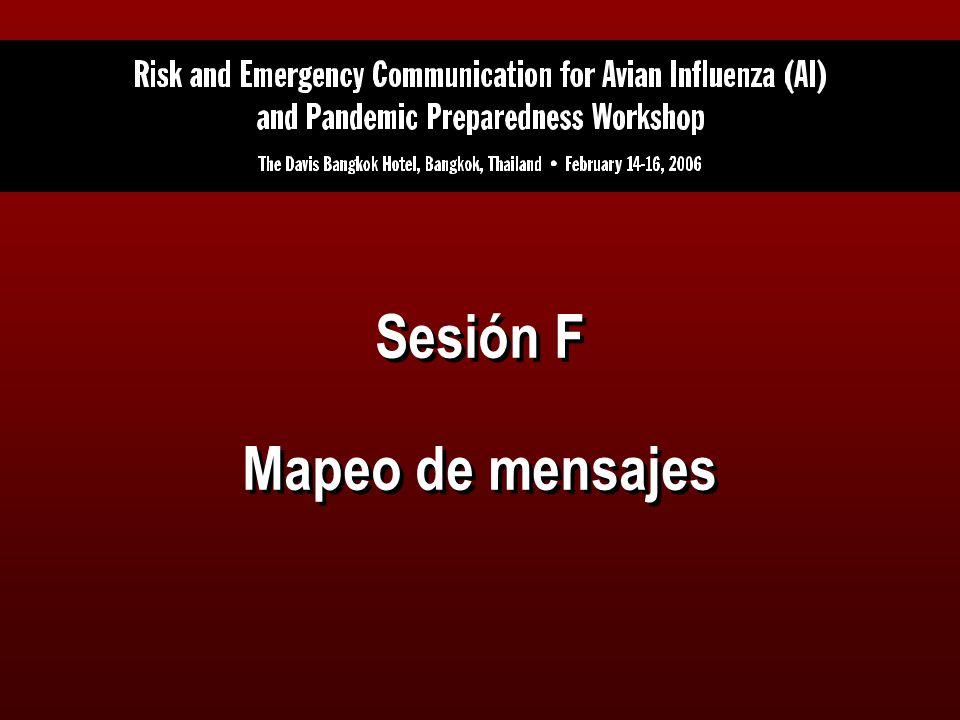 Sesión F Mapeo de mensajes