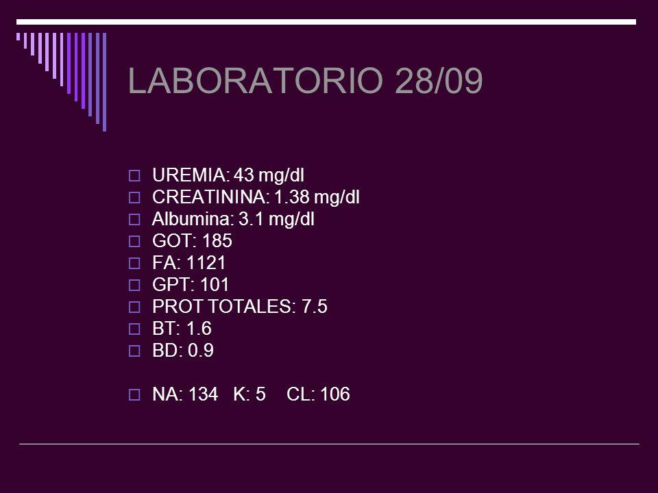Tratamiento actual Omeprazol 1frasco c/24hs Paracetamol según fiebre Fluconazol 200 1frasco c/24hs Ceftriazona 1gr.