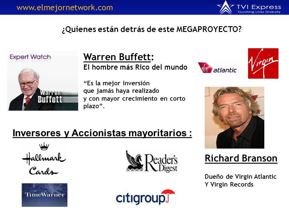 ¿Quienes están detrás de este MEGAPROYECTO? Warren Buffett: El hombre más Rico del mundo Es la mejor inversión que jamás haya realizado y con mayor cr
