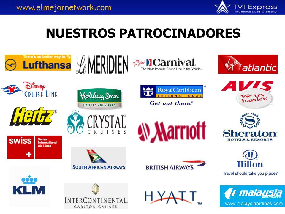 NUESTROS PATROCINADORES www.elmejornetwork.com