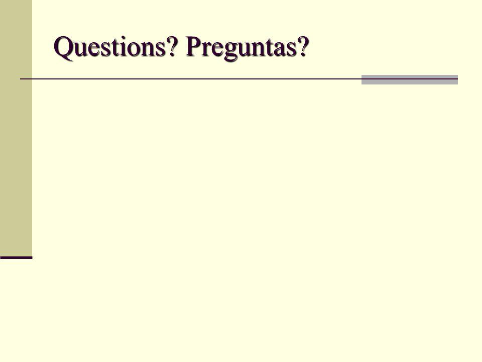 Questions Preguntas
