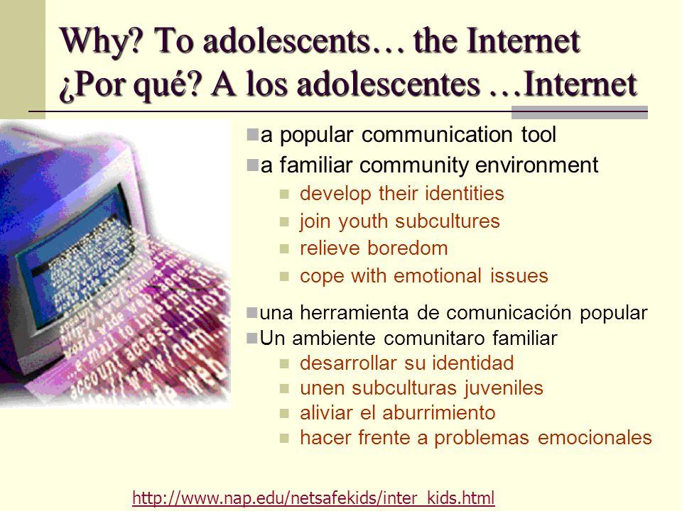 Why. To adolescents… the Internet ¿Por qué.