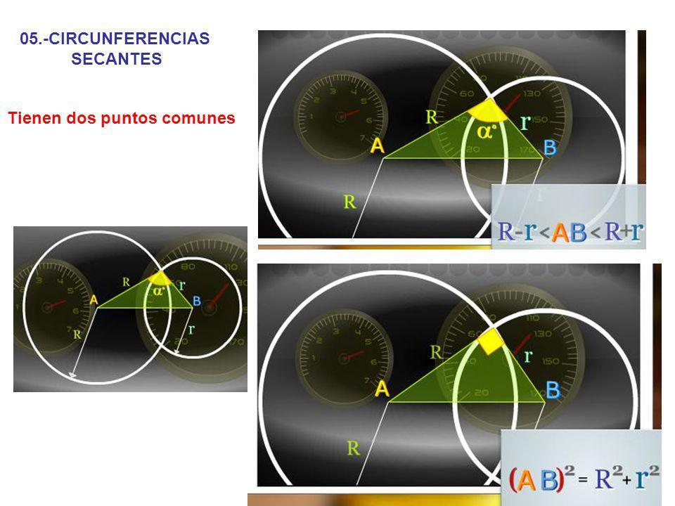 05.-CIRCUNFERENCIAS SECANTES Tienen dos puntos comunes