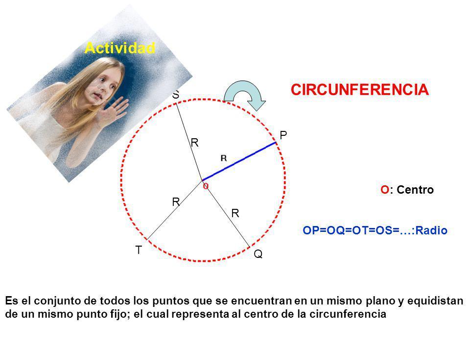 Es el conjunto de todos los puntos que se encuentran en un mismo plano y equidistan de un mismo punto fijo; el cual representa al centro de la circunf