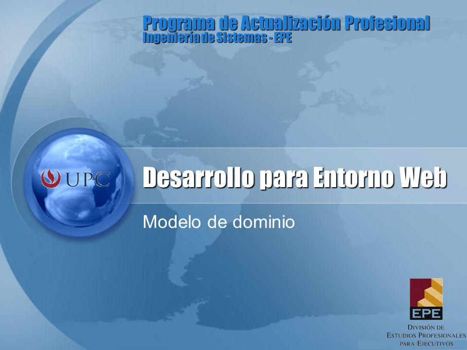 Programa de Actualización Profesional Ingeniería de Sistemas - EPE Desarrollo para Entorno Web Modelo de dominio