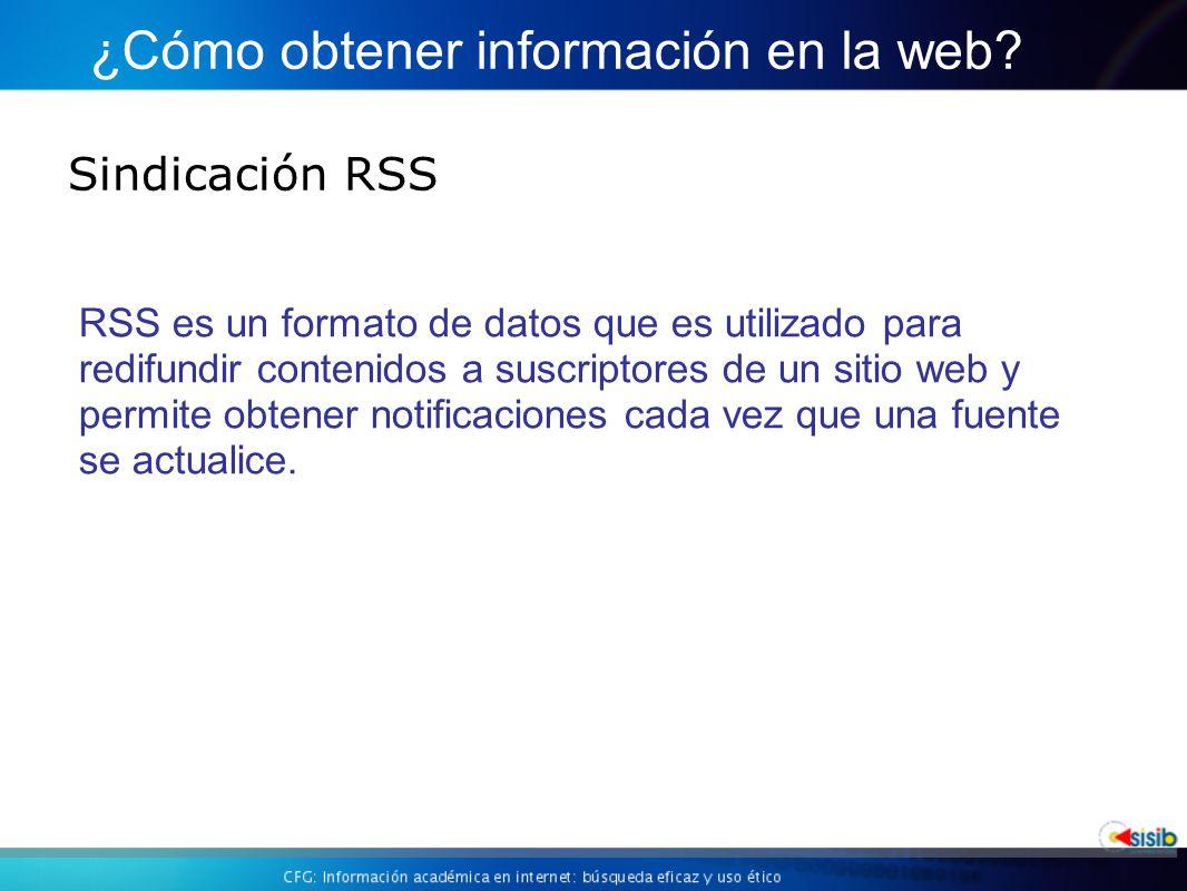 Sindicación RSS ¿Cómo obtener información en la web.