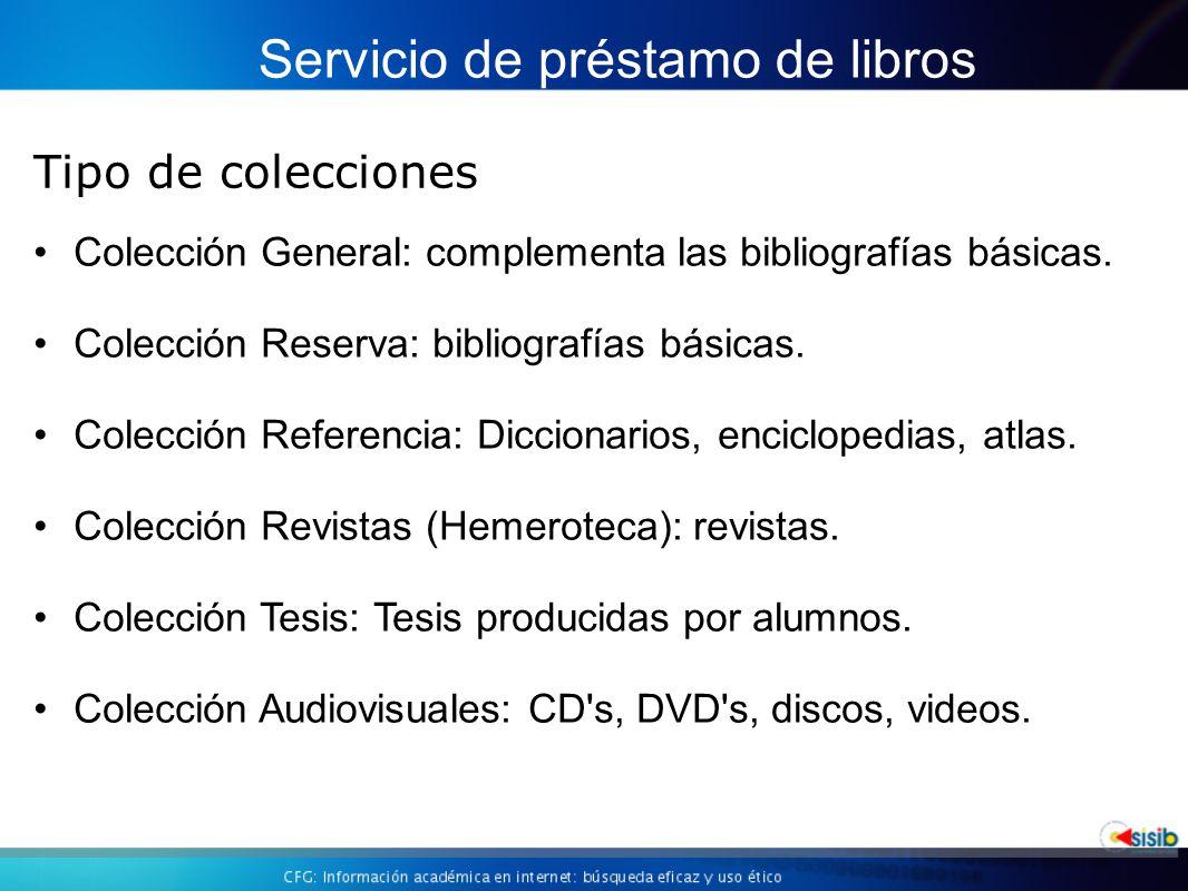 Colección General: complementa las bibliografías básicas.