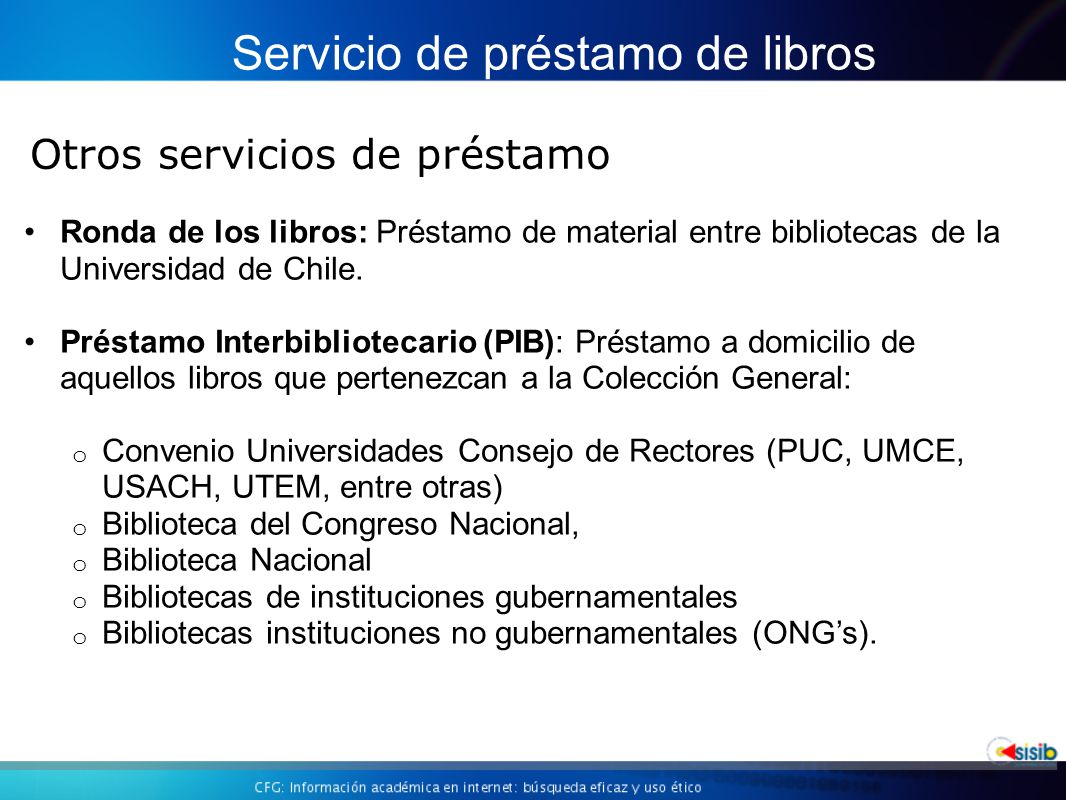 Ronda de los libros: Préstamo de material entre bibliotecas de la Universidad de Chile.