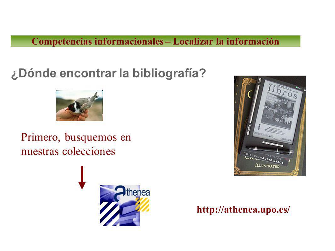 ¿Dónde encontrar la bibliografía.