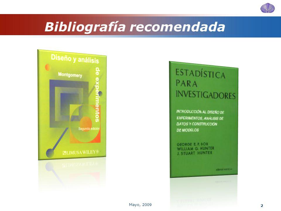 13 Modelo de efectos fijos Esperanza del tratamiento i Prueba de Hipótesis Mayo, 2009