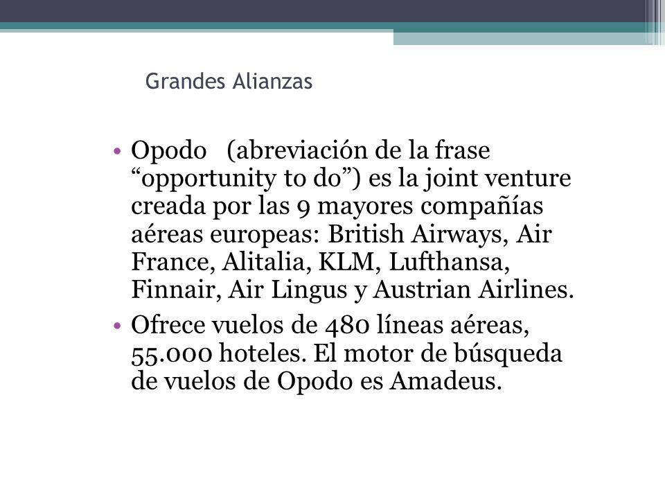 Grandes Alianzas Opodo (abreviación de la frase opportunity to do) es la joint venture creada por las 9 mayores compañías aéreas europeas: British Airways, Air France, Alitalia, KLM, Lufthansa, Finnair, Air Lingus y Austrian Airlines.