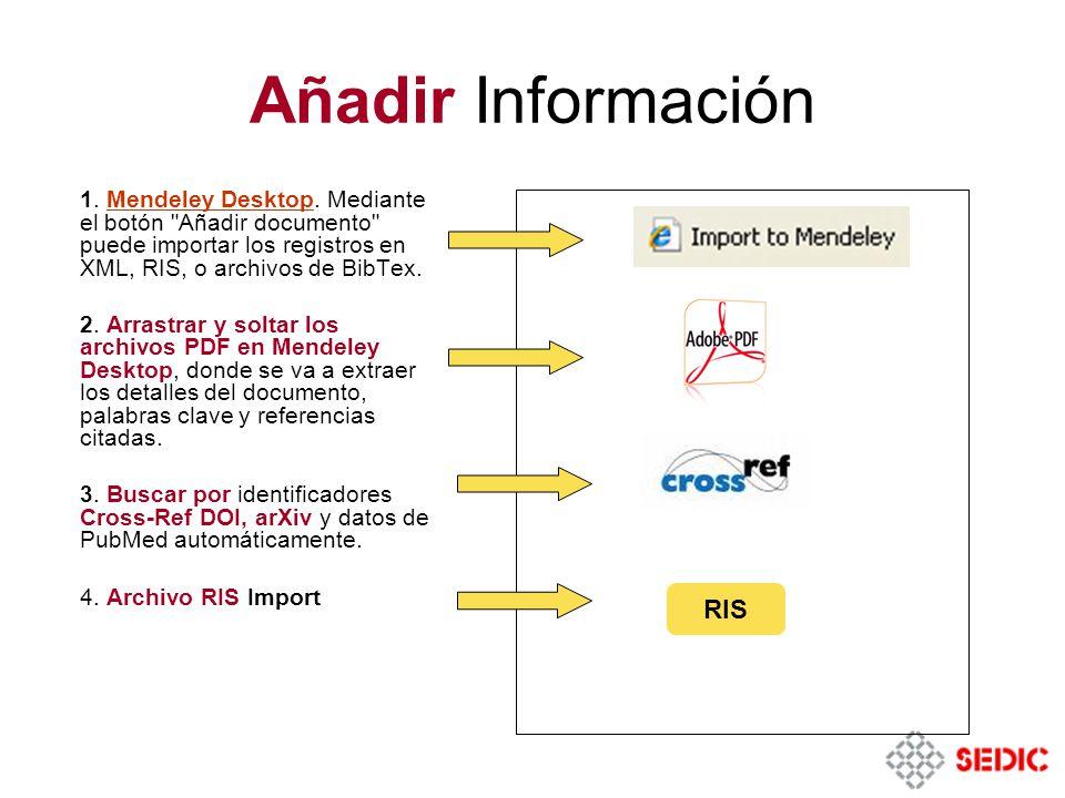 Añadir Información 1.Mendeley Desktop.