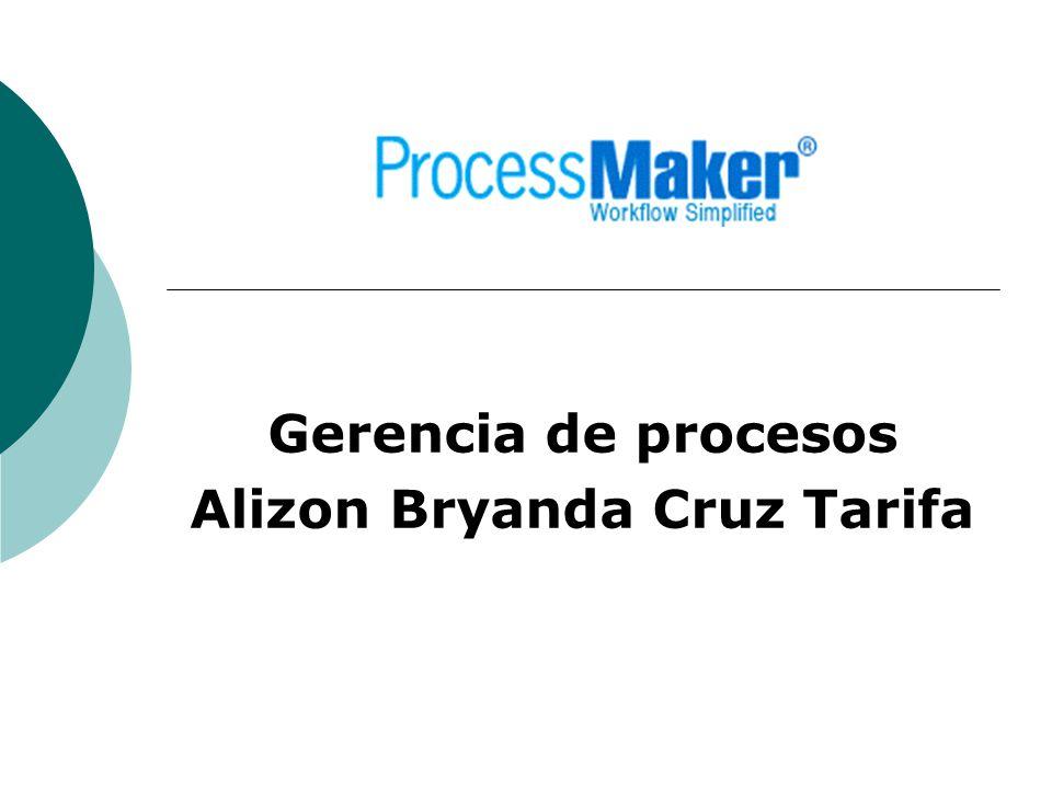 Gerencia de procesos Alizon Bryanda Cruz Tarifa