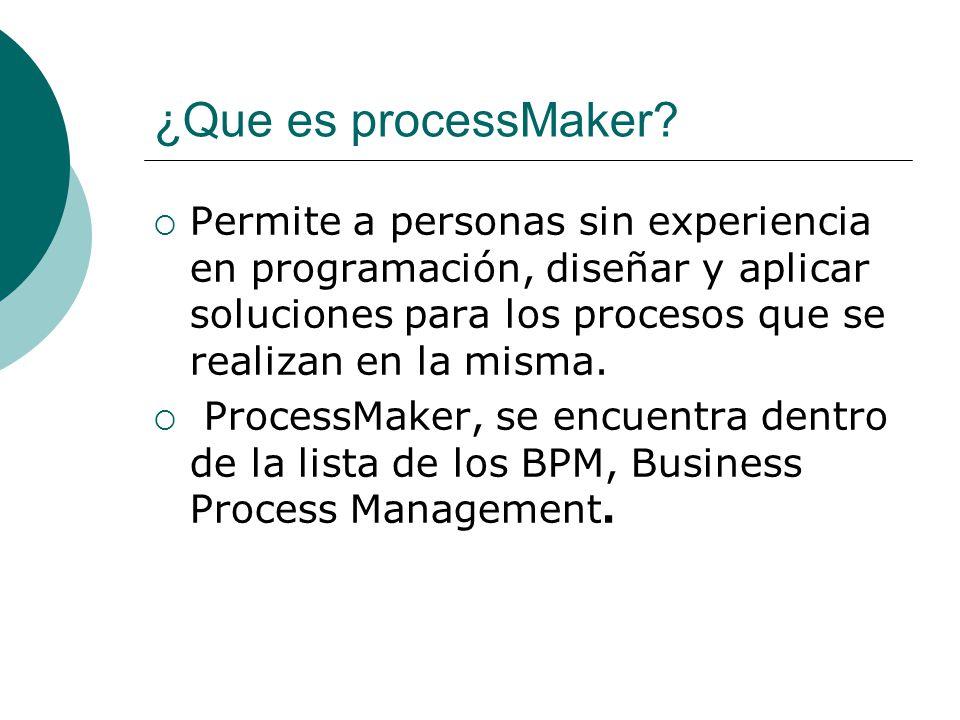 ¿Qué ofrece ProcessMaker.