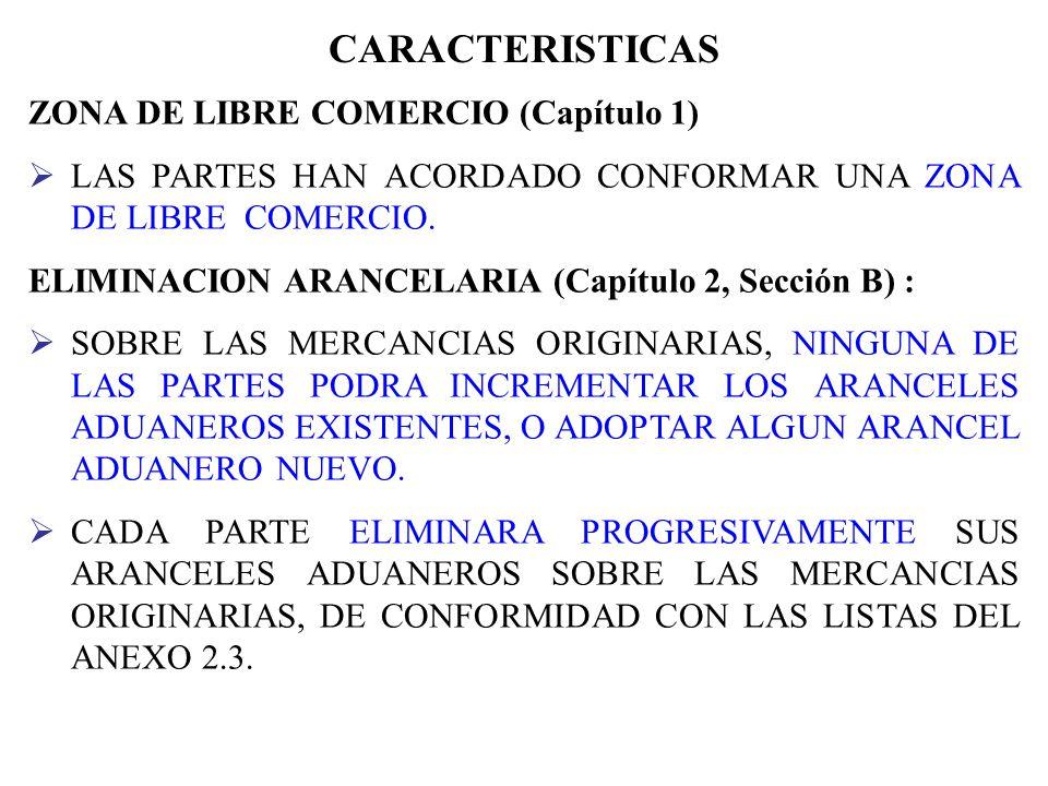 PRINCIPALES CAPITULOS CAP. II: TRATO NACIONAL Y ACCESO DE MERCANCIAS AL MERCADO CAP. X: INVERSION CAP. IV: REGLAS DE ORIGEN Y PROCEDIMIENTOS DE ORIGEN