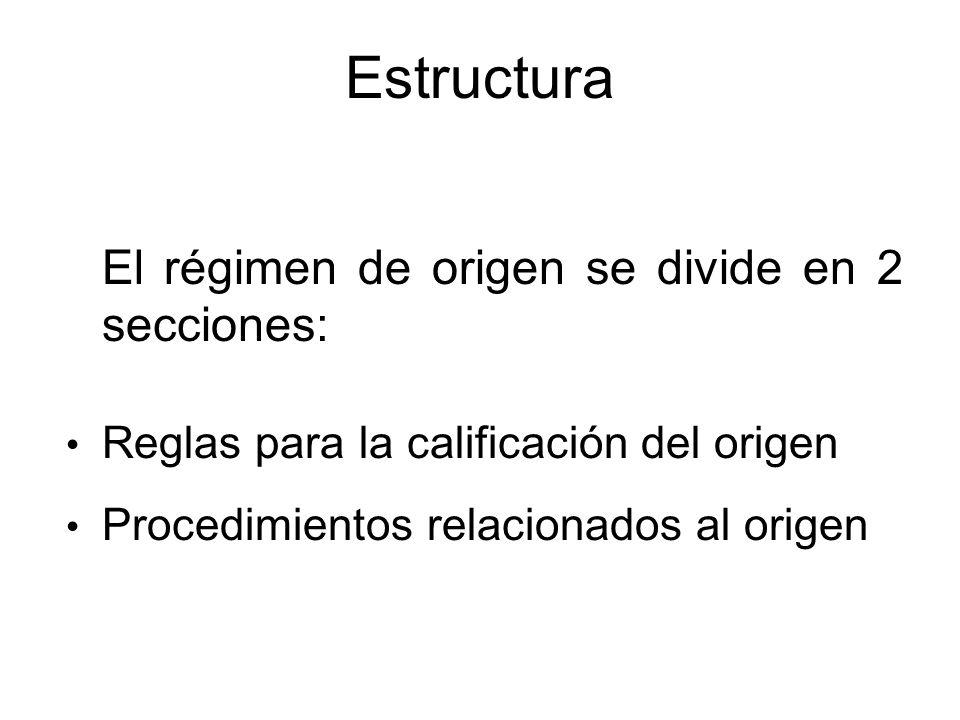 APC Perú - EE.UU. Capítulo Cuatro: Régimen General de Origen, es decir aplicable a todas las mercancías clasificadas en el Sistema Armonizado. Capítul