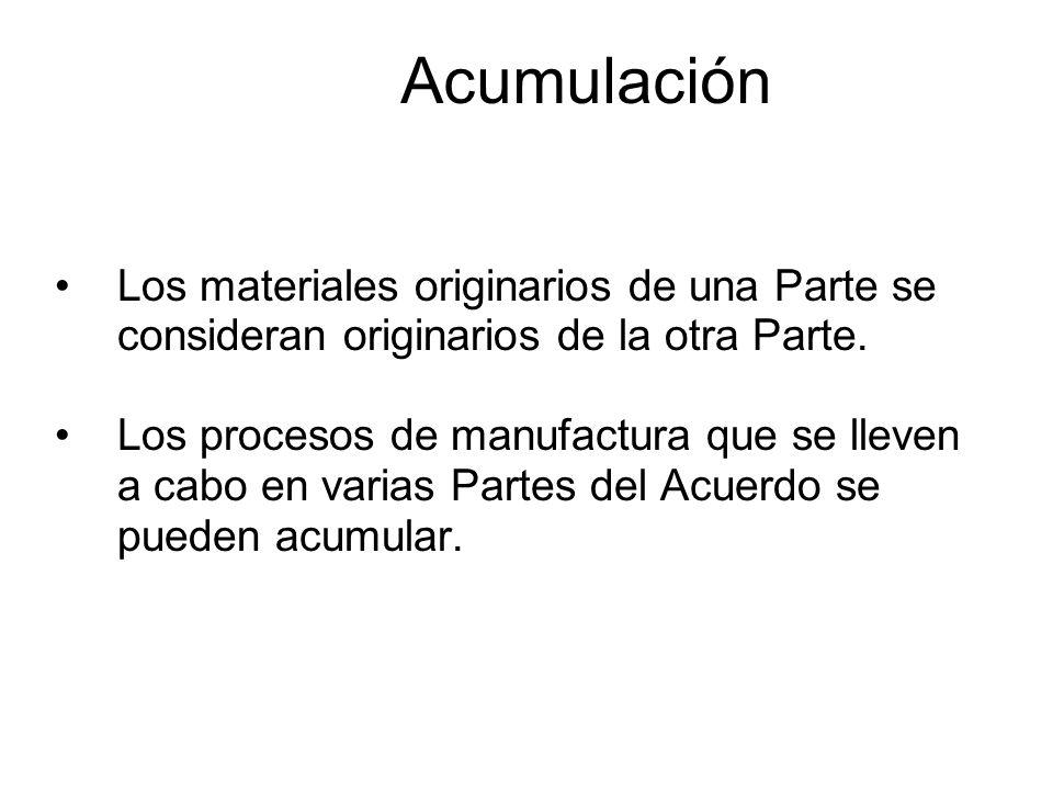 Las mercancías son originarias cuando son: 1)Totalmente obtenidas o producidas 2)Producidas a partir de materiales originarios y no originarios: Anexo