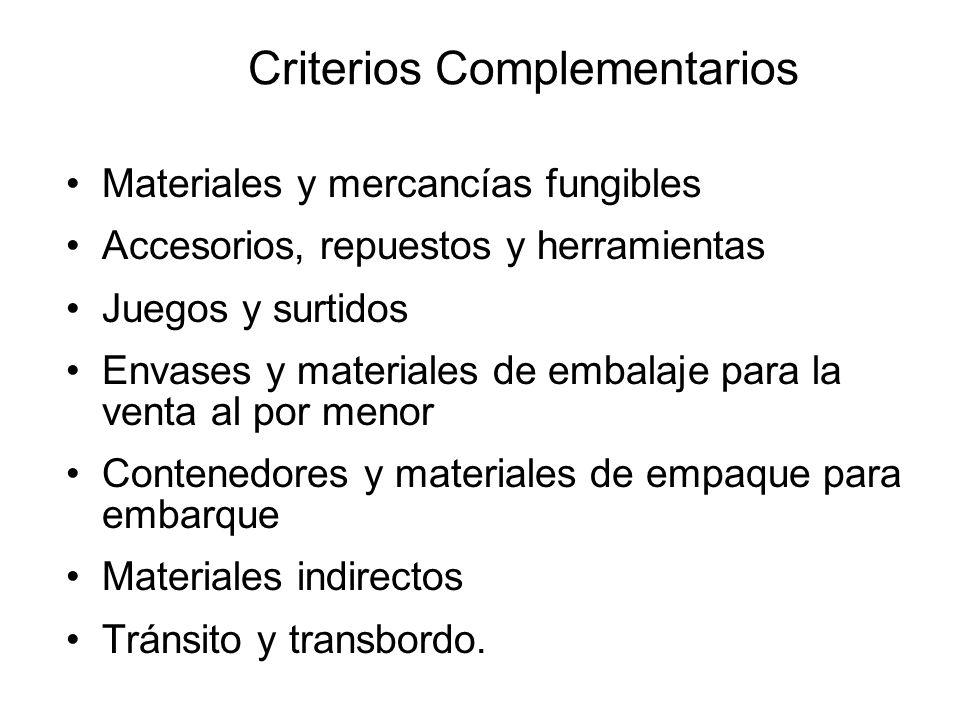 De Minimis Para los capítulos 1 a 24 se permite el uso delDe Minimis cuando el material no originario se clasifica en una subpartida(6 dígitos) distin