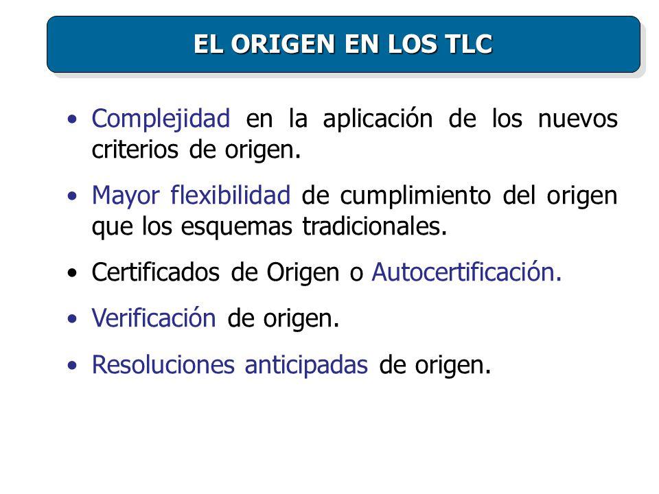 Complejidad en la aplicación de los nuevos criterios de origen.