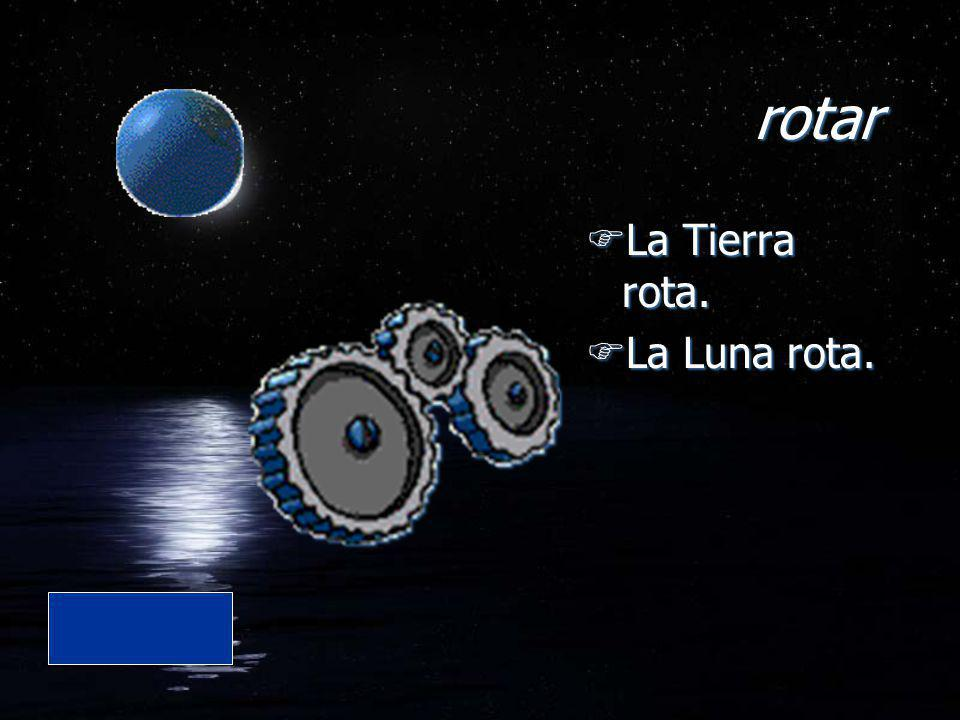 rotar FLa Tierra rota. FLa Luna rota. FLa Tierra rota. FLa Luna rota.