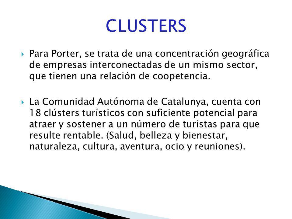 Para Porter, se trata de una concentración geográfica de empresas interconectadas de un mismo sector, que tienen una relación de coopetencia. La Comun