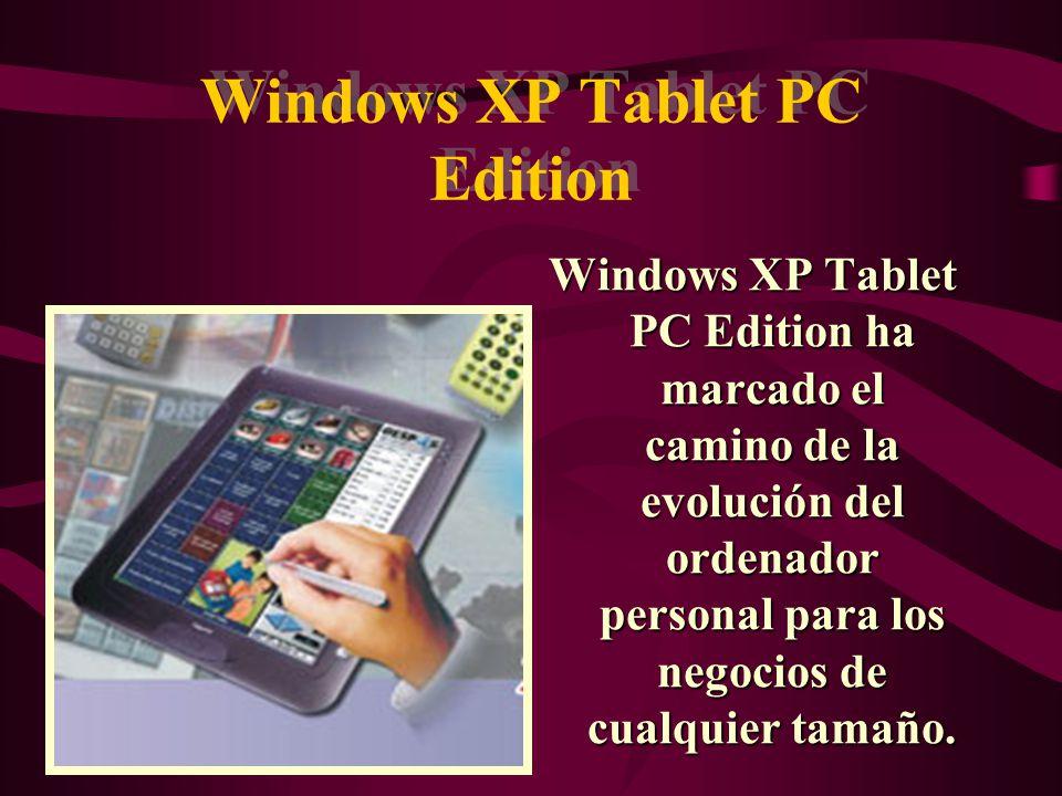 Windows XP Home Edition Windows XP Home Edition Brinda una experiencia mucho mejor con tan solo el ordenador de casa e Internet y aporta al equipo dependencia y simplicidad