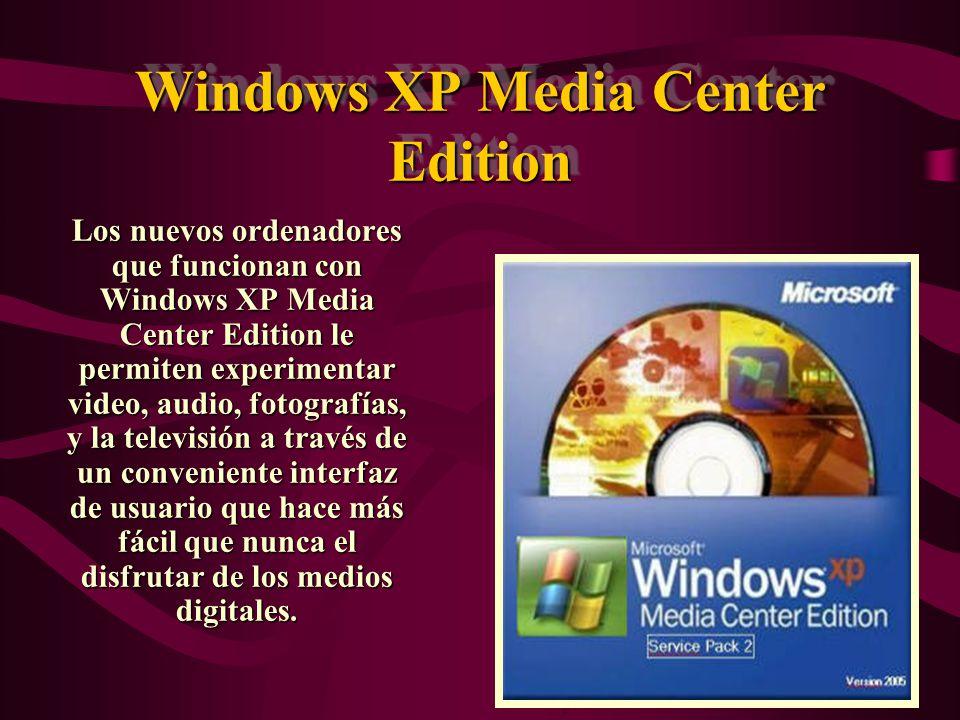 Windows XP Tablet PC Edition Windows XP Tablet PC Edition ha marcado el camino de la evolución del ordenador personal para los negocios de cualquier tamaño.