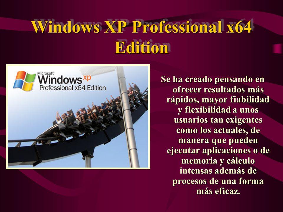 Windows XP Media Center Edition Los nuevos ordenadores que funcionan con Windows XP Media Center Edition le permiten experimentar video, audio, fotografías, y la televisión a través de un conveniente interfaz de usuario que hace más fácil que nunca el disfrutar de los medios digitales.