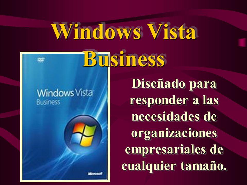 Windows vista Ultimate Es el primer sistema operativo que combina todas las características de infraestructura avanzada de un sistema operativo empresarial con las de administración y productividad de un sistema operativo orientado a la movilidad