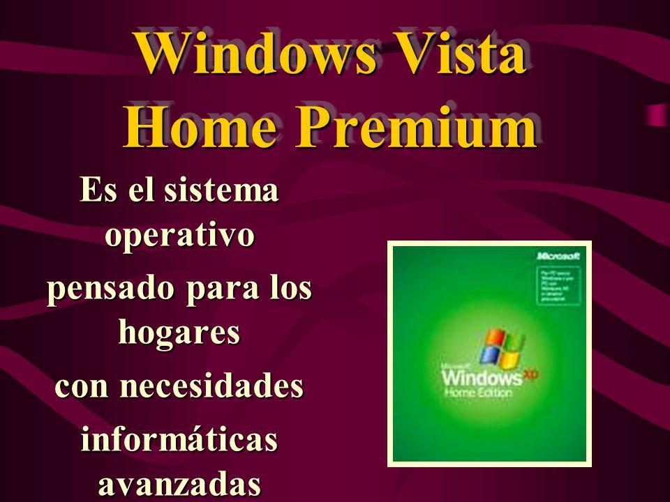 Windows Vista Business Diseñado para responder a las necesidades de organizaciones empresariales de cualquier tamaño.