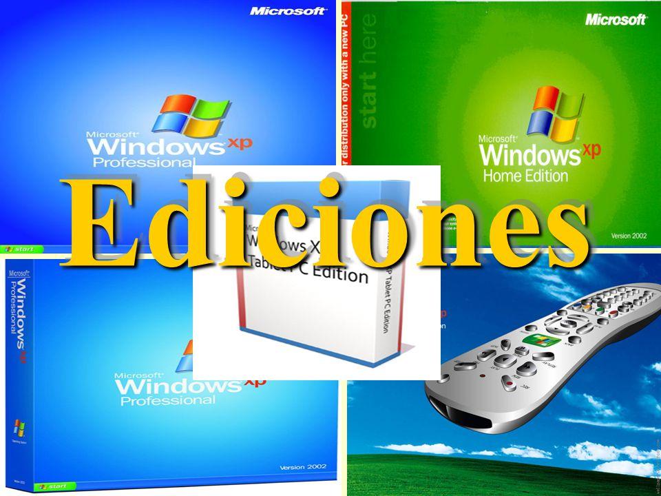 Características de Windows XP Secuencias más rápidas de inicio y de hibernación.