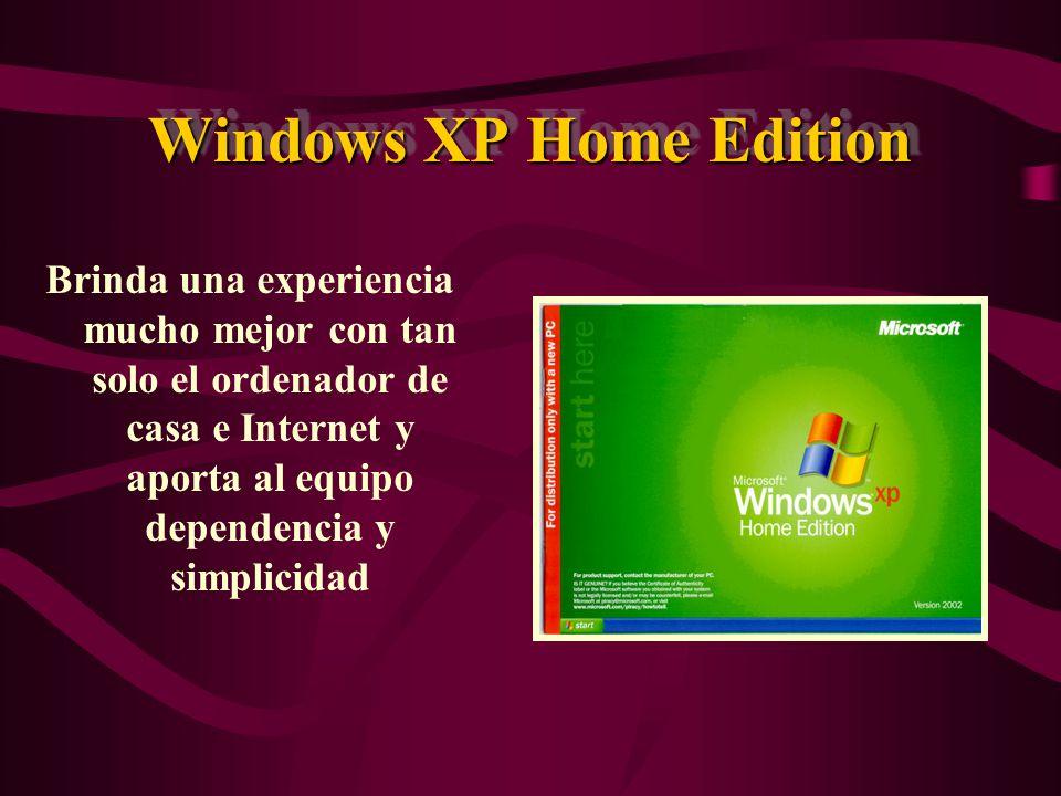 Windows XP Professional Se ha creado pensando en negocios de todos los tamaños así como para usuarios domésticos que quieren sacar el máximo provecho a su experiencia informática.